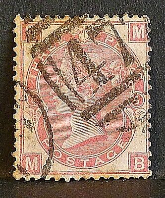 GB Stamps 1870 sg103 3d rose (M-B) Plate 6