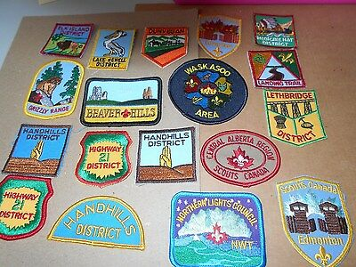 (Yt2-R) Eighteen Different Listed Unused Alberta Scout Badges (See Notes)