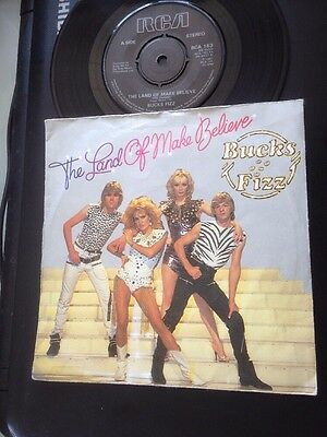 "BUCKS FIZZ - The Land of Make Believe 45 Record 7"" single 1981"