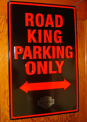 "HARLEY DAVIDSON ""ROAD KING PARKING ONLY"" Tin Sign Gameroom Bar"
