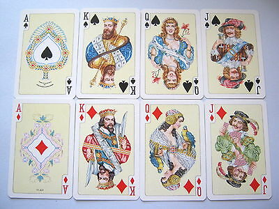 Vintage Playing Cards Stunning Court Card Only Set Of 16 Court & Ace Cards [32]