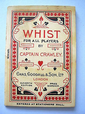 Antique Playing Cards Goodall Rules Of Whist 1899 Captain Crawley Excellent