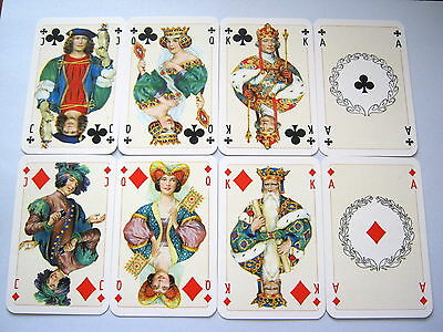 Vintage Playing Cards Stunning Court Card Only Set Of 16 Court & Ace Cards [8]