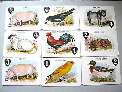 Antique De La Rue Card Game Animal Grab Excellent Rules Box  1905 Playing Cards