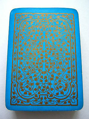 ANTIQUE PLAYING CARDS AESTHETIC DESIGN GOODALL 1890s WIDE 52 + JOKER [BLUE]