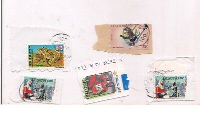 7 LESOTHO stamps on paper.