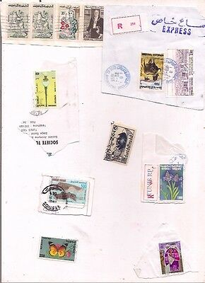 20 TUNISIA stamps on paper.