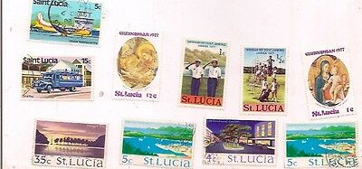 10 ST LUCIA stamps.