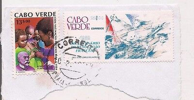 2 CAPE VERDE stamps on paper.