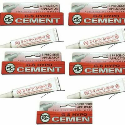 ORIGINAL GS Hypo Cement Glue Pack Of 5 - Fakes From China Carry Dangers