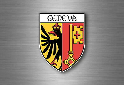Sticker decal souvenir car coat of arms shield city flag munich germany
