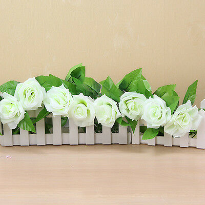 Artificial Fake Silk Rose Flower Ivy Vine Hanging Garland Wedding Decor Rose