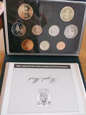 Great Britain 1989 Proof Set With Coa And Box Leatherette Case    X1085