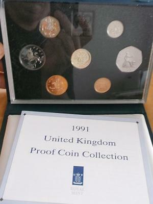 Great Britain 1991 Proof Set With Coa And Box    X1081