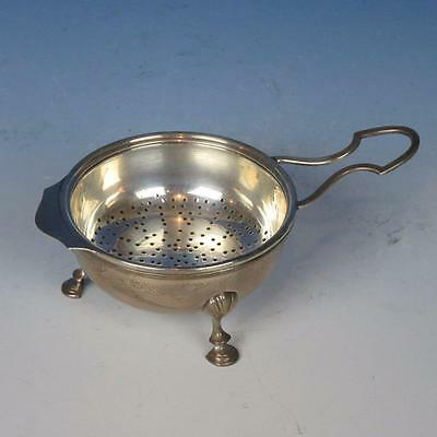 Sterling Silver - Two Piece Footed Tea Strainer