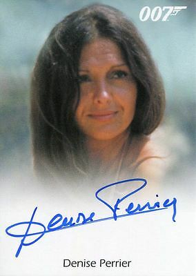 James Bond Archives 2017 Full Bleed Autograph Card Denise Perrier As Marie