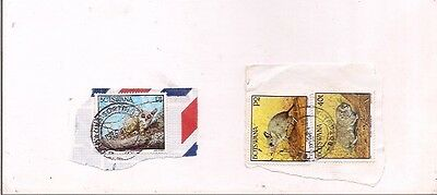 3 BOTSWANA stamps on paper.