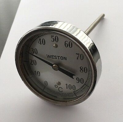 """Vintage Weston 3"""" Industrial Dial Thermometer (Lc15)"""