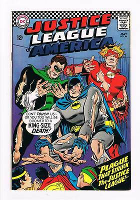 Justice League of America # 44 The Plague That Struck ! grade 6.5 scarce book !!