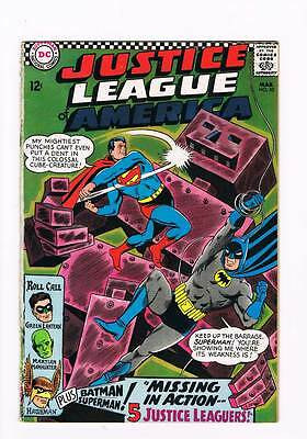 Justice League of America # 52 Missing In Action ! grade 1.0 scarce book !!