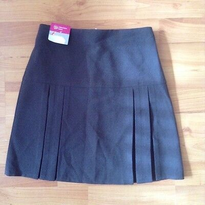 New girls grey school skirt age 10