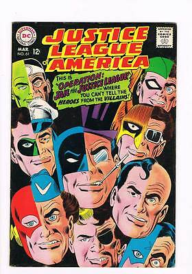 Justice League of America # 61 Operation: Jail the JL ! grade 8.0 scarce book !!