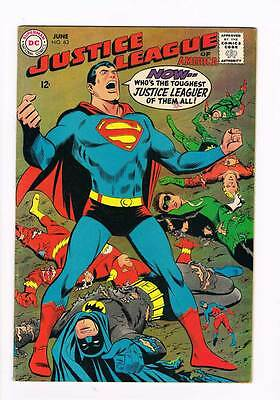 Justice League of America # 63 Who's The Toughest Of Them All! grade 6.5 scarce