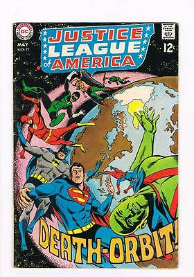Justice League of America # 71 And So, My World Ends ! grade 4.5 scarce book !!