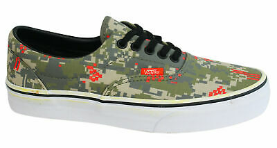 Vans Off The Wall Era MLX Unisex Green Camo Lace Up Canvas Trainers W3CE9U B90D