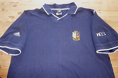 BRITISH LIONS adidas AUSTRALIA 2001 RUGBY UNION COTTON POLO SHIRT TOP MEDIUM