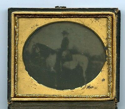 1860s Confederate General Robert E Lee on Traveller Original Ambrotype