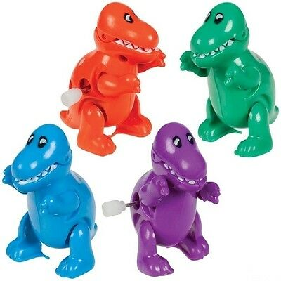 Stompin' Chompin' T-Rex Wind-Up Dinosaur Toys - Pack of 4 Different Colors