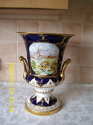 Caverswall Ltd Ed Silver Jubilee Campana Vase Windsor Castle by Keith Hancock