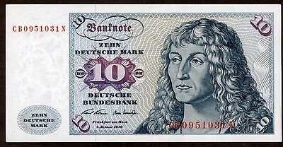 Germany 10 Mark 1970 Note !!!!!! Au