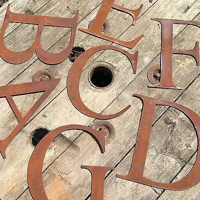 12inch industrial letters metal rustic numbers symbols shop sign lettering rusty