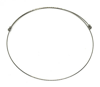 1 stainless steel neckwire necklace choker base 0.75mm wide 18 to 20 inches