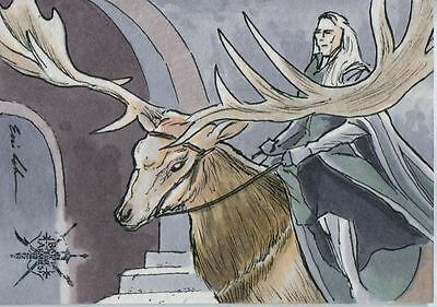 Hobbit Battle Of 5 Armies Sketch Card By Eric Lehtonen