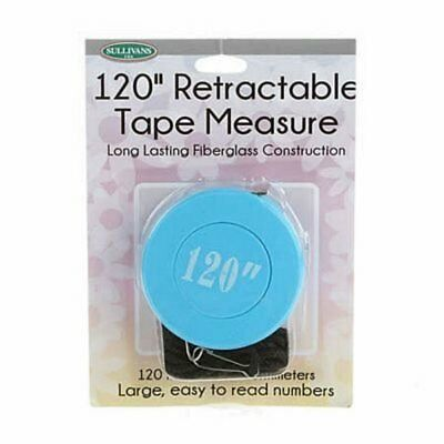 Sullivan's 120 inch Retractable Measuring Tape Inch and Metric Markings