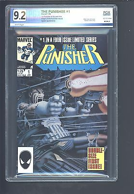 The Punisher #1-5 1986, Marvel Limited Series PGX No CGC 9.0-9.4 #5 Zeck Signed