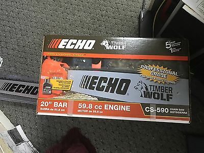 "New Echo Timber Wolf Cs-590 20"" Gas Powered Chainsaw 59.8Cc Engine Professional"