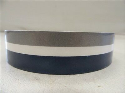 "Pinstripe Decal Tape Silver / Clear / Navy Blue 1 1/8"" X 75' Ft Marine Boat"