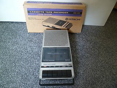 Vintage Boxed Hitachi portable cassette player TRQ-240R with power lead