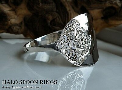 Stunning Ladies Victorian Solid Silver Spoon Bangle 1900  * Only One Available *