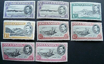 Ascension: range of mint stamps, GVI on, with sheet & m/s