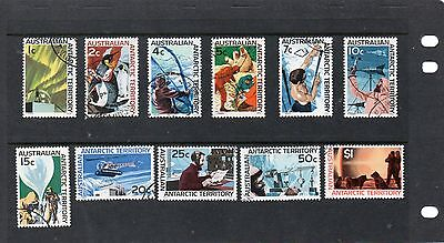 Sg8-18 Australian Antarctic Territory Definitives Fine Used Stamps