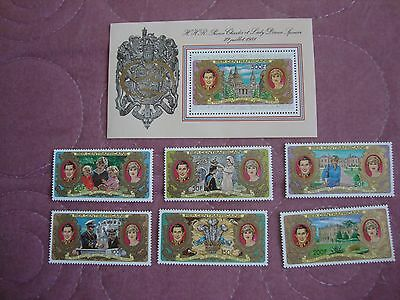 Wedding 1981 Charles & Diana Central African Republic stamps, S/Sheet 2nd issue