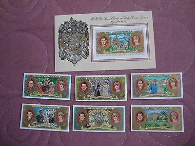 Wedding 1981 Charles & Diana Central African Republic stamps, 2nd issue imperf