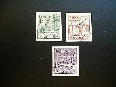 Germany Saxony 1946 Imperf Set Fine Used Cat £80.00 !!