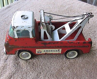 Vintage 1960's Nylint Ford Standard American Oil Gas Steel Tow Truck Wrecker USA
