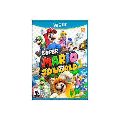Super Mario 3D World (Nintendo Wii U, 2013) COMPLETE GREAT CONDITION